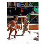 Children Playing Postcards