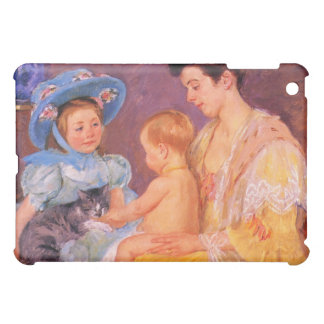 children playing with a cat fine art case for the iPad mini