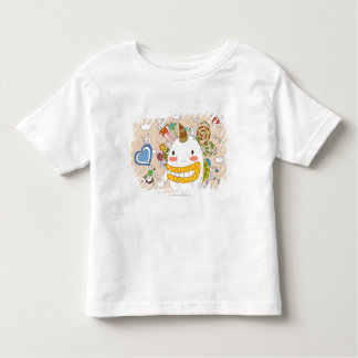 Children playing with monster t-shirt