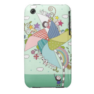 Children Playing with Toys iPhone 3 Case-Mate Cases