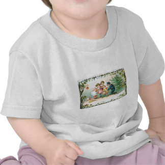 Children Playing with Toys on Christmas Tshirt