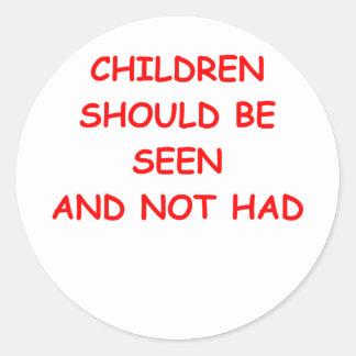 CHILDREN.png Round Sticker