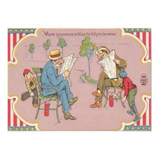 Children Prank Men Fireworks Firecracker Card