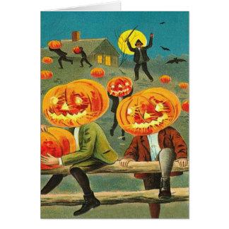Children Pumpkin Jack O' Lantern Trick R Treat Card