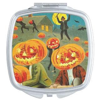 Children Pumpkin Jack O' Lantern Trick R Treat Compact Mirror