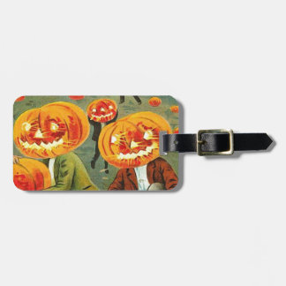 Children Pumpkin Jack O' Lantern Trick R Treat Luggage Tag