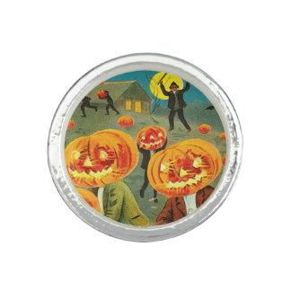 Children Pumpkin Jack O' Lantern Trick R Treat Photo Ring