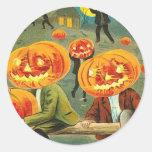 Children Pumpkin Jack O' Lantern Trick R Treat Sticker