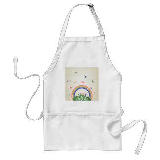 Children rainbow adult apron