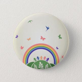 Children rainbow button
