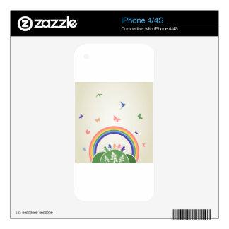 Children rainbow decals for iPhone 4S