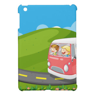 Children riding in a van cover for the iPad mini