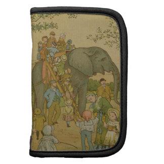 Children Riding on the Elephant (litho) Organizer