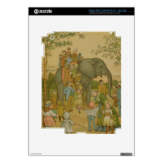 Children Riding on the Elephant (litho) Skin For iPad 3