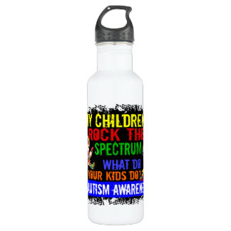 Children Rock The Spectrum Autism 24oz Water Bottle