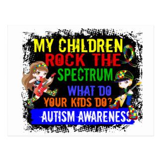 Children Rock The Spectrum Autism Postcard