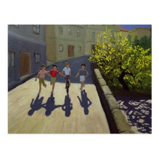 Children Running Lesbos 1999 Postcard