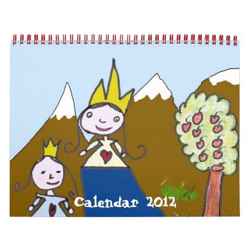 Calendar Drawing For Kids : Children´s drawings calendar zazzle