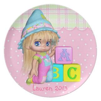 Children s Girl Plate Nursery Toddler Keepsake