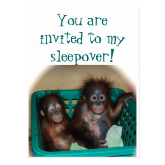 Children 's Party  Sleepover Invitation Postcard