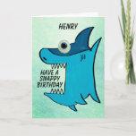 Children's Shark Customisable Birthday Card
