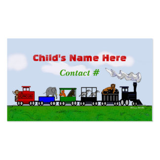 Children s Train Calling Card Business Cards