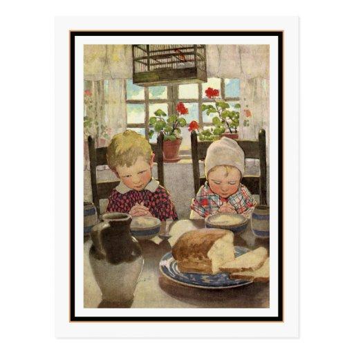 Children Saying Grace by Jessie Willcox Smith Postcard
