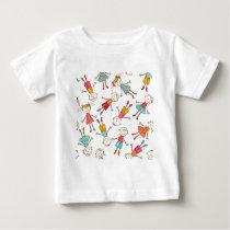 Children seamless vector pattern baby T-Shirt