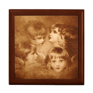 Children Sepia Faces Portrait Ethereal Vintage Gift Box