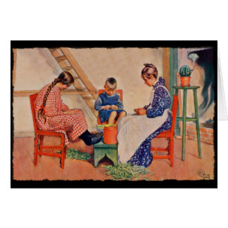 Children Shelling Peas Card