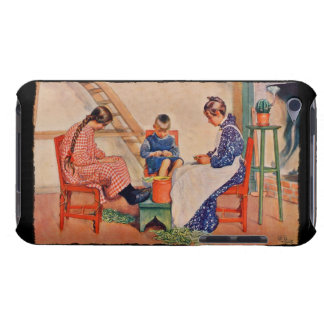 Children Shelling Peas iPod Touch Case-Mate Case