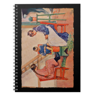 Children Shelling Peas Notebook