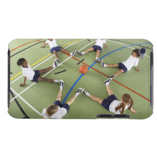 Children sitting on the floor of a sports hall barely there iPod case