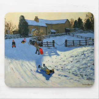 Children Sledging Monyash Derbyshire Mouse Pad