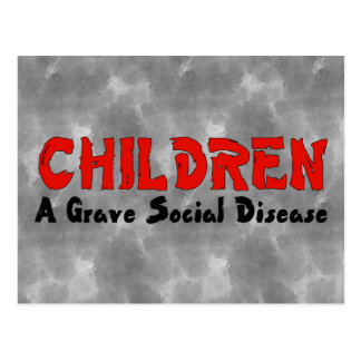Children Social Disease Postcard