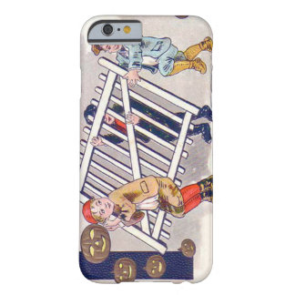 Children Stealing Fence Jack O Lantern Barely There iPhone 6 Case