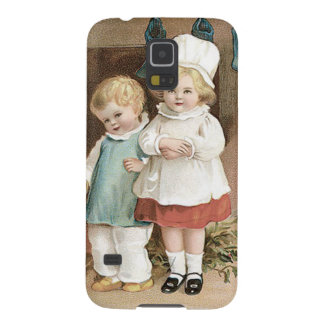 Children Stockings Holly Candle Galaxy S5 Cover