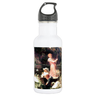 Children Swans Water Boat painting 18oz Water Bottle