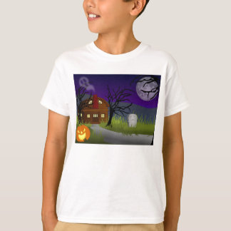 Children T-shirt knows with gruesome house