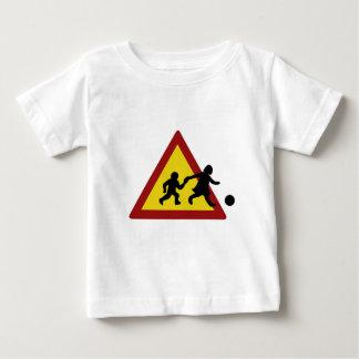 Children traffic sign for soccer tee shirt