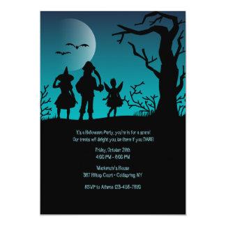 Children Trick or Treating Halloween Invitation