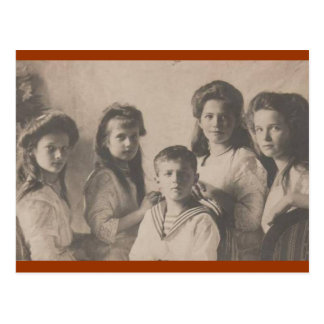 Children Tsar: OTMA & Alexis Romanov Russia #107 Postcard