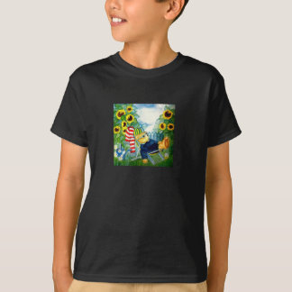 """Children Tshirt kind of water color """"teddy in the"""