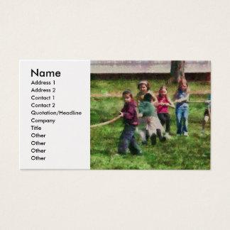Children - Tug of War  Business Card