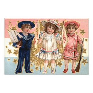 Children Uniform Stars & Stripes Photo Print