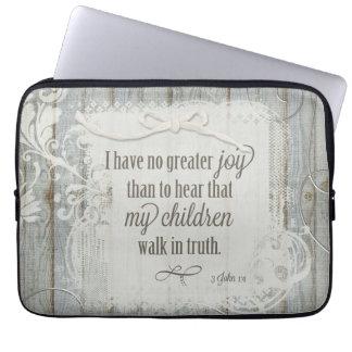 Children Walk in Truth - 3 John 1:4 Computer Sleeves