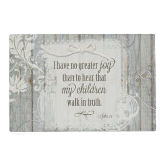 Children Walk in Truth - 3 John 1:4 Placemat