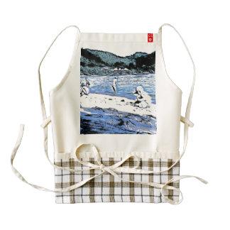 Children wearing caps on the beach zazzle HEART apron