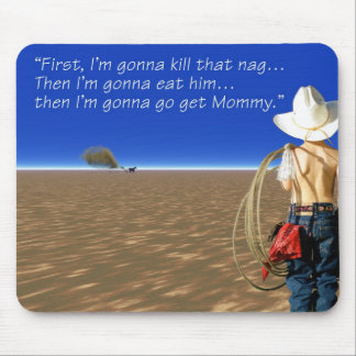 Children, Western - A tough day in the desert Mouse Pad