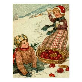 """Children with Apples"" Postcard"